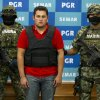 Photo -   Jesus Alfredo Guzman Salazar is presented to the media in Mexico City, Thursday, June 21, 2012. Mexican marines detained Jesus Alfredo Guzman Salazar, 26, who is allegedly one of the sons of Mexico's most-wanted drug kingpin, Joaquin