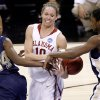 OU\'s Carle Roethlisberger fights for the ball between Pittsburgh\'s Sarah Ogoke, left, and Chelsea Cole during the NCAA women\'s basketball tournament game between Oklahoma and Pittsburgh at the Ford Center in Oklahoma City, Sunday, March 29, 2009. PHOTO BY BRYAN TERRY, THE OKLAHOMAN