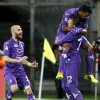 Photo - Fiorentina's Josip Ilicic, right, celebrates with teammates after scoring during a Serie A soccer match between Fiorentina and Atalanta  at the Artemio Franchi stadium in Florence, Italy Saturday  Feb. 8  2014. (AP Photo/Fabrizio Giovannozzi)