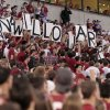 A marriage proposal appears during a college football game between the University of Oklahoma Sooners (OU) and the Kansas State University Wildcats (KSU) at Gaylord Family-Oklahoma Memorial Stadium, Saturday, September 22, 2012. Photo by Steve Sisney, The Oklahoman