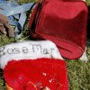 A Christmas stocking for Rose Marie Juul lies among other personal items in the front yard of her grandparent\'s home near Fargo after a killer tornado roared through sections of Woodward last weekend. Rose Marie, 10, died as she and her father were trying to make it to a storm cellar when the twister hit. Tuesday, April 17, 2012. Photo by Jim Beckel, The Oklahoman