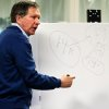 Ohio Governor John Kasich speaks to a crowd at Early Express Services Inc. at 1333 E. Second St. in Dayton Thursday about his budget and tax plans, using a white board and a marker to show actual figures. .(AP Photo/Dayton Daily News, Jim Witmer) WKEF OUT WRGT OUT WDTN OUT LOCAL PRINT OUT