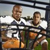 Heritage Hall football duo Barry Sanders Jr. and Sterling Shepard, from left, on Tuesday, August 16, 2011, in Oklahoma City, Okla. Photo by Chris Landsberger, The Oklahoman
