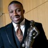JIM THORPE AWARD WINNER: University of Tennessee\'s Eric Berry poses with the Jim Thorpe Award prior to a banquet at the National Cowboy & Western Heritage Museum in Oklahoma City on Monday, Feb. 8, 2010. Photo by John Clanton, The Oklahoman ORG XMIT: KOD