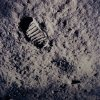 FILE - A footprint left by one of the astronauts of the Apollo 11 mission shows in the soft, powder surface of the moon on July 20, 1969. Commander Neil A. Armstrong and Air Force Col. Edwin E.