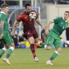 Photo - Portugal's Hugo Almeida (9) controls the ball between Republic of Ireland's Jeff Hendrick, left, and Richard Keogh, right, during the first half of an international friendly soccer match Tuesday, June 10, 2014, in East Rutherford, N.J. (AP Photo/Bill Kostroun)