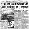 The April 10, 1947, front page of the Oklahoma City Times.