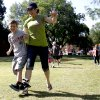 Logan McKee, 9, and Darci McKee race in a three-legged race during a mother-son field day, Saturday, May 7, 2011, at Stephenson Park in Edmond, Okla.. Photo by Sarah Phipps, The Oklahoman