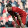 Photo - Liverpool's Steven Gerrard reacts at the end of the game during their English Premier League soccer match against Newcastle United at Anfield in Liverpool, England, Sunday May 11, 2014. (AP Photo/Clint Hughes)