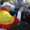 Europe\'s Sergio Garcia celebrates after winning the Ryder Cup PGA golf tournament Sunday, Sept. 30, 2012, at the Medinah Country Club in Medinah, Ill. (AP Photo/Charles Rex Arbogast) ORG XMIT: PGA214