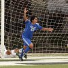 Santa Fe South\'s Santiago Montalvo (23), Jesus Andrade (in net) and Christian Morales (7) react as Mount Saint Mary\'s Connor Hartzell (26) heads the ball in for an overtime win at the Oklahoma State 4A Boys Championship soccer game in which Mount Saint Mary won 2-1 on Saturday, May 12, 2012, in Newcastle, Okla. Photo The Oklahoman, Steve Sisney
