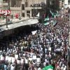 Photo -   This image made from amateur video and released by Douma Revolution in Syria Friday, April 13, 2012 purports to show a large anti-government demonstration in Douma, Syria. (AP Photo/Douma Revolotion in Syria via AP video) THE ASSOCIATED PRESS CANNOT INDEPENDENTLY VERIFY THE CONTENT, DATE, LOCATION OR AUTHENTICITY OF THIS MATERIAL. TV OUT