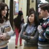 """The Carrie Diaries -- """"Hush, Hush"""" -- Pictured (L-R): Katie Findlay as Maggie, Ellen Wong as Mouse, and Brendan Dooling as Walt -- Image Number: CD108b_0120b.jpg — Photo: Patrick Harbron/The CW -- © 2013 The CW Network, LLC. All rights reserved."""