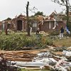 Volunteers help with the clean up of debris on Monday, May 10, 2010, in Oklahoma City, Okla. left behind by the tornados that hit central oklahoma on Monday. Photo by Chris Landsberger, The Oklahoman
