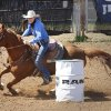 Tillar Murray, Fort Worth, TX, in the Barrel Racing at the International Finals Youth Rodeo in Shawnee, Friday, July 11, 2014. Photo by David McDaniel, The Oklahoman