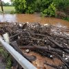 Debris washed against the guard rail on Franklin road on Saturday, June 1, 2013 in Norman, Okla. illustrates the level of flood water damage after Friday night\'s storm Photo by Steve Sisney, The Oklahoman