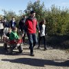 Janna Ryan, right, walks alongside her husband Republican vice presidential candidate, Rep. Paul Ryan, center, R-Wis., as he pulls his sons Charlie, front, and Sam in a wagon holding his daughter Liza\'s hand on their way to the pumpkin patch at the Apple Holler farm, Sunday, Oct. 7, 2012 in Sturtevant, Wis. (AP Photo/Mary Altaffer)