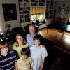 From left, Jonathan, 12, Amy, Jack, 9, Dean and David, 14 Sergent in the game room of their home, 514 NW 14, for the Centennial Heritage Hills home and garden tour, in Oklahoma City, Friday, Sept. 28, 2007. By MATT STRASEN, The Oklahoman