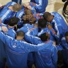 The Thunder huddle during the NBA basketball game between the Oklahoma City Thunder and the Phoenix Suns, Sunday, Dec. 19, 2010, at the Oklahoma City Arena. Photo by Sarah Phipps, The Oklahoman