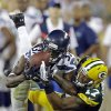 Photo - Seattle Seahawks' Will Blackmon catches a ball in front of Green Bay Packers' Charles Johnson (17) during the second half of an NFL preseason football game Friday, Aug. 23, 2013, in Green Bay, Wis. Blackmon was called for pass interference on the play. (AP Photo/Jeffrey Phelps)