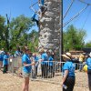 "Students involved in the faith-based Whiz Kids tutoring-mentoring program participate in rock climbing at the organization's recent ""Spring Fling"" end-of-year celebration at Crystal Lake. Photo by Carla Hinton, The Oklahoman"