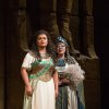 Photo -   In this Nov. 15, 2012 photo provided by the Metropolitan Opera, Liudmyla Monastyrska, left, performs in the title role with and Olga Borodina, right, as Amneris in Verdi's