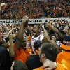 Oklahoma State\'s Kamari Murphy (21) celebrates following the Bedlam men\'s college basketball game between the Oklahoma State University Cowboys and the University of Oklahoma Sooners at Gallagher-Iba Arena in Stillwater, Okla., Saturday, Feb. 16, 2013. Photo by Sarah Phipps, The Oklahoman