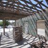 Photo - Barry Rice is restoring parts of the old interurban depot he owns at 9 E First St. in downtown Edmond. He says he probably will landscape the space and leave it as an open-air pavilion.  David McDaniel - The Oklahoman