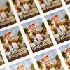 Photo - A sheet of the U.S. Postal Service stamp commemorating the 50th anniversary of the March on Washington is seen during an unveiling event at the Newseum in Washington, Friday, Aug. 23, 2013. (AP Photo/Charles Dharapak)