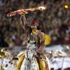 Florida State mascot Chief Osceola takes the field before a college football game between the University of Oklahoma (OU) and Florida State (FSU) at Doak Campbell Stadium in Tallahassee, Fla., Saturday, Sept. 17, 2011. Photo by Bryan Terry, The Oklahoman