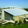 Photo - IOWA STATE UNIVERSITY, INDOOR PRACTICE FACILITY, BUILDING EXTERIOR: The Steve and Debbie Bergstrom Indoor Training Facility was constructed over the practice field west of Jack Trice Stadium. It opened in March 2004.   PHOTO PROVIDED    ORG XMIT: 0806132205401972