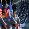 Members of Riverside Military Academy from Gainesville, Ga., march down Baker Street during the 31st annual Veterans Day Parade in Atlanta, Saturday, Nov. 10, 2012. (AP Photo/David Tulis)