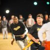 Kevin Durant plays flag football at Oklahoma State on Halloween night. (Photo courtesy KT King)