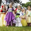 Photo -  Children pose for a photo for their parents after the children's parade at the Bethany 66 Festival. Photo by K.T. King, The Oklahoman    KT King -