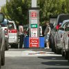 Photo -   Costco members fill up with discounted gasoline at a Costco gas station in Van Nuys, Calif., Friday, Oct. 5, 2012. Californians woke up to a shock Friday as overnight gasoline prices jumped by as much as 20 cents a gallon in some areas, ending a week of soaring costs that saw some stations close and others charge record prices. (AP Photo/Damian Dovarganes)