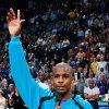 The Hornets\' Chris Paul thanks the fans of Oklahoma City for their support before the start of the NBA basketball game between the New Orleans/Oklahoma City Hornets and the Denver Nuggets at the Ford Center in Oklahoma City, Friday, April 13, 2007. By Nate Billings, The Oklahoman