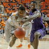 Oklahoma State\'s Le\'Bryan Nash (2) and Kansas State\'s Jamar Samuels (32) go for the ball during an NCAA college basketball game between the Oklahoma State University Cowboys (OSU) and the Kansas State University Wildcats (KSU) at Gallagher-Iba Arena in Stillwater, Okla., Saturday, Jan. 21, 2012. Photo by Bryan Terry, The Oklahoman