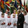 Britain\'s Prince Philip speaks to choir boys after attending the Commonwealth Day Observance service at Westminster Abbey in London, Monday, March 11, 2013. Britain\'s Queen Elizabeth II was due to attend but cancelled Monday as she continues to recover from her recent illness. Commonwealth Day Observance has a different theme every year, with the 2013 focus on 'Opportunity through Enterprise.' Queen Elizabeth II is the head of the Commonwealth, a voluntary association of 54 countries. (AP Photo/Kirsty Wigglesworth)