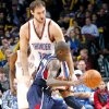 Atlanta\'s Jamal Crawford runs into Oklahoma City\'s Nenad Krstic during their NBA basketball game at the OKC Arena in Oklahoma City on Friday, Dec. 31, 2010. Photo by John Clanton, The Oklahoman