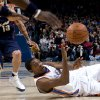 Oklahoma City\'s Kevin Durant scrambles for a loose ball during the NBA game between the Oklahoma City Thunder and Cleveland Cavaliers, Sunday, Dec. 21, 2008, at the Ford Center in Oklahoma City. PHOTO BY SARAH PHIPPS, THE OKLAHOMAN