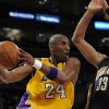Los Angeles Lakers guard Kobe Bryant (24) goes up for a shot as Indiana Pacers forward Danny Granger (33) defends during the second half of their NBA basketball game, Friday, Jan. 9, 2009, in Los Angeles. The Lakers won 121-119. (AP Photo/Mark J. Terrill) ORG XMIT: OTKMT101