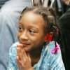 9 year-old Alexia Grant watches the Inauguration of President Barack Obama at the Freedom Center at NE 26th and Martin Luther King Blvd. in Oklahoma City. January 20, 2009. BY STEVE GOOCH, THE OKLAHOMAN.