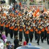 The OSU Marching Band participates in the Oklahoma State Cowboys homecoming parade in downtown Stillwater, OK, Saturday, Oct. 29, 2011. By Paul Hellstern, The Oklahoman