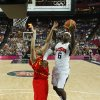 Lebron James (6) of the United States is guarded by Spain\'s Marc Gasol (13) during their men\'s gold medal basketball game at the 2012 Summer Olympics on Sunday, Aug. 12, 2012, in London. (AP Photo/Sergio Perez, Pool)