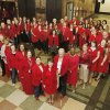 Oklahoma County Court Clerk Patricia Presley\'s office all dressed in red for the American Heart Association\'s Go Red For Women day at the Oklahoma County Courthouse in Oklahoma City, OK, Friday, Feb. 3, 2012. By Paul Hellstern, The Oklahoman