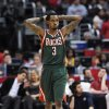 Milwaukee Bucks guard Brandon Jennings reacts to a foul in the first half of an NBA basketball game against Los Angeles Clippers, Wednesday, March 6, 2013, in Los Angeles.(AP Photo/Gus Ruelas)