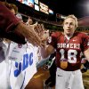 Oklahoma, led by quarterback Jason White, routed Colorado 42-3 in the 2004 Big 12 championship game. PHOTO BY BRYAN TERRY, THE OKLAHOMAN ARCHIVE
