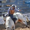 Dustin Ratchford, from Wynnewood, in the Bull Riding at the International Finals Youth Rodeo in Shawnee, Friday, July 11, 2014. Photo by David McDaniel, The Oklahoman