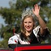 2012-2013 Czech/Slovak Queen Katie Holman waves to the crowd during the Czech Festival parade Saturday in Yukon. Photo by Hugh Scott, for the Oklahoman