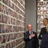 President Barack Obama and former Secretary of State Hillary Rodham Clinton tour Memorial Hall at the National September 11 Memorial Museum with former New York City Mayor Michael Bloomberg, Thursday, May 15, 2014, in New York. Speaking at the dedication, the president said, no act of terror can match the strength and character of the United States. (AP Photo/Carolyn Kaster)